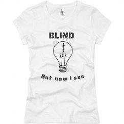 J Girls Blind Tee Lt.Pink