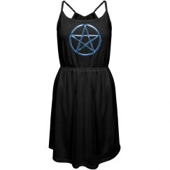 Blue Pentacle Dress