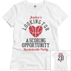Basketball Bachelorette Party MOH to Score Tee