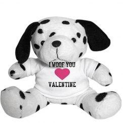 I woof you valentine