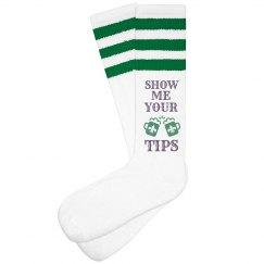 Show Me Your Mardi Gras Tips Socks