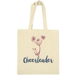 Cheerleader Tote Bag Stick Figure