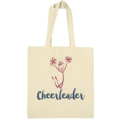 Cheerleader Tote Bag Stick Figure