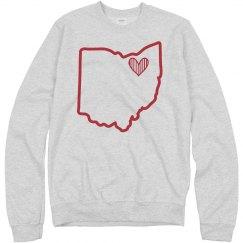 Heart Ohio Crewneck