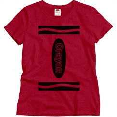 Red Crayon Shirt Costume