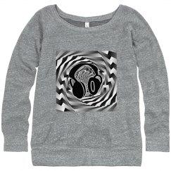 Cool Headphones Black White & Grey Spiral