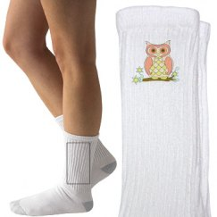 Cute Colorful Owl Socks