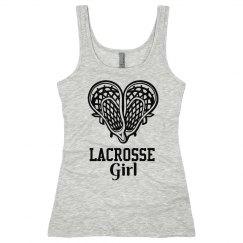 Lacrosse Girl Net Heart Tom Boy Tank