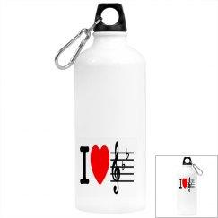 I Heart Music Drinks Bottle