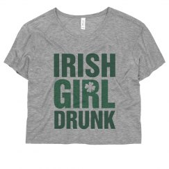 Irish Girl Drunk Shamrock