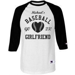 Trendy Baseball Girlfriend Shirts With Custom Text