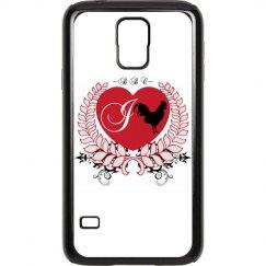I Heart BBC Samsung Galaxy S 5 Rubber & Plastic Case
