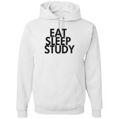 Eat, Sleep, Study Hoodie