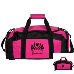 Jasmine. Gymnastics bag