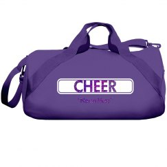 Glitter text cheer bag