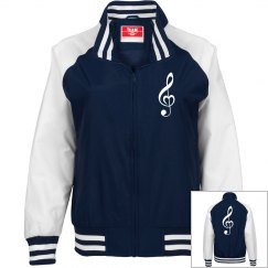 Blue Jersey Note Jacket