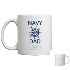 Personalize navy dad coffee mug