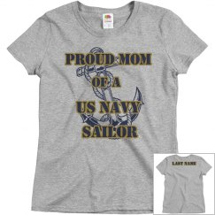 Proud Mom Navy Shirt