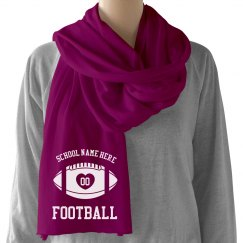 Trendy Football Scarf With Custom Name and Number