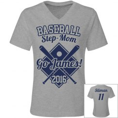 Step-Mom Baseball Tee