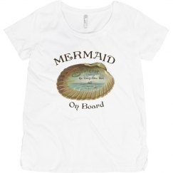 Mermaid On Board Maternity Top