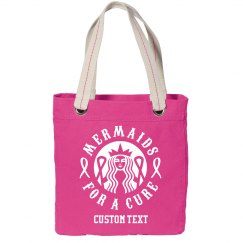 Custom Text Mermaids for a Cure Tote