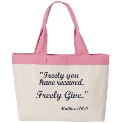 Freely Give Bag