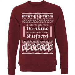 Drunk Ugly Sweater Santa