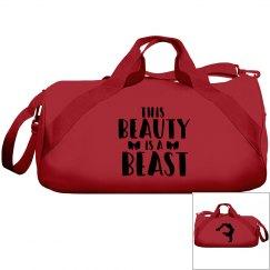 Beauty is a Beast Cheerleader Bow Bag