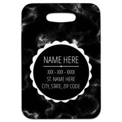 Black Marble Custom Tag