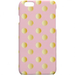 Pink with Gold Poke-a-Dots iphone Cover