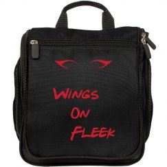 Wings on Fleek makeup bag