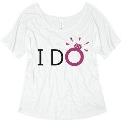 """I do"" bridal top"
