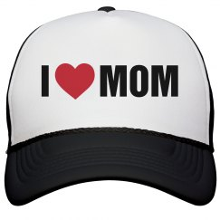 I Heart Mom Mothers Day Hat Gift