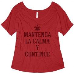 Keep Calm in Spanish