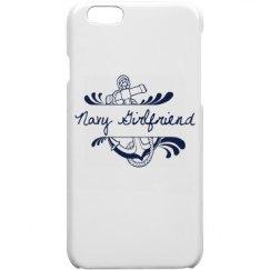 White Navy Girlfriend iPhone 6 Case
