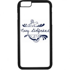 Black and White Navy Girlfriend iPhone 6 Plus Case