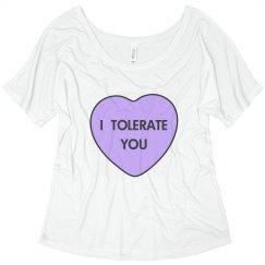 Valentine's Day I Tolerate You