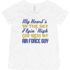 Bless My Airforce Guy Maternity Tee