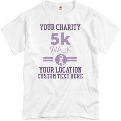 Custom Charity Ribbon Walk Shirt