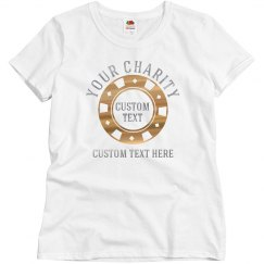 Custom Metallic Charity Casino Shirt