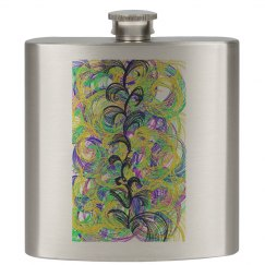 Swirly Vine Flask