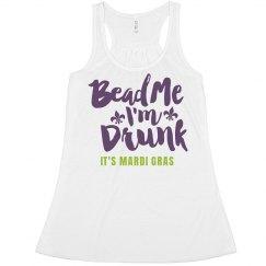 Bead Me I'm Drunk Mardi Gras Crop