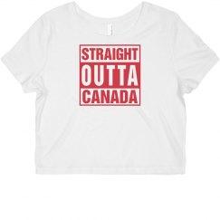 STRAIGHT OUTTA CANADA Crop Top