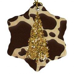 Golden Christmas Tree Animal Print