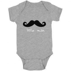 Little Man mustache Bodysuit