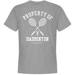 Property of badminton athletic dept.