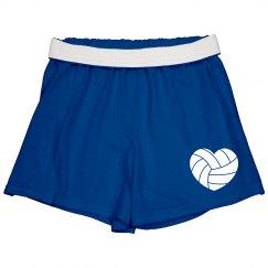 Volleyball heart shorts