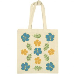 Blue & Orange Hibiscus (Eco Friendly Bag)