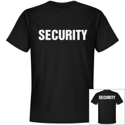 Security Tee Front Back